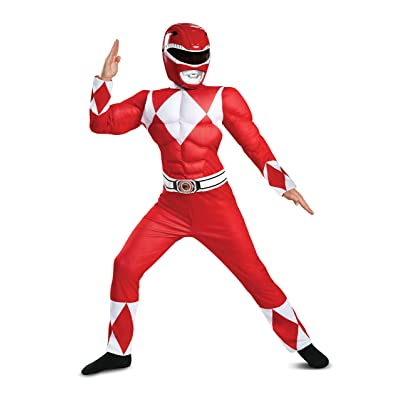 Boys Classic Multicolor Ranger Muscle Power Ranger Costume: Toys & Games