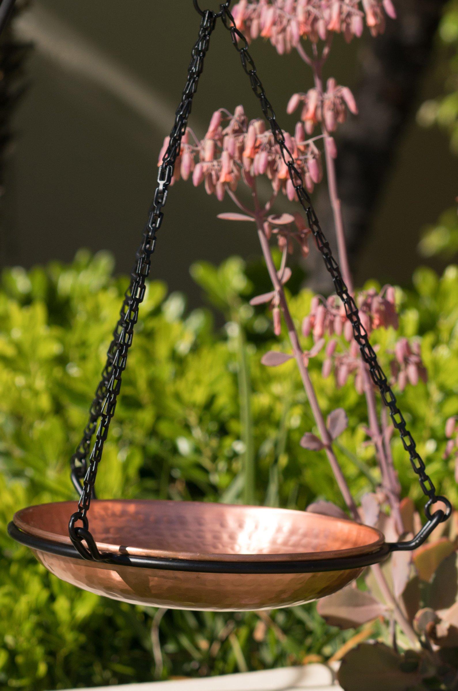Monarch Abode 17065 Hanging Hammered Copper Bird Bath by Monarch Abode (Image #4)