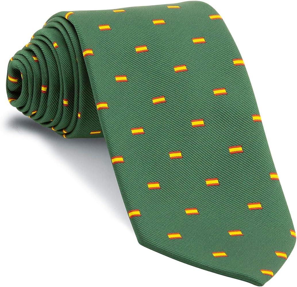 Cencibel Smart Casual Corbata Verde Botella Bandera España Escarapela: Amazon.es: Ropa y accesorios