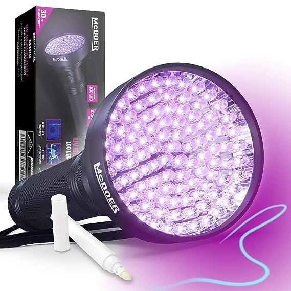 Review Blacklight Flashlight UV 100
