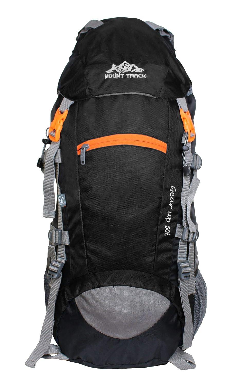 MOUNT TRACK 50 Ltr Black Rucksacks  Amazon.in  Bags 1dae00673f95e