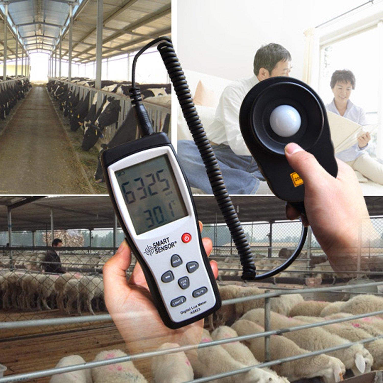 Digital Lux Meter Photometer Illuminometer Spectrometer Spectrophotometer High Precision Light Meter 200,000lux AS823 by WULE-Digital multimeter (Image #4)
