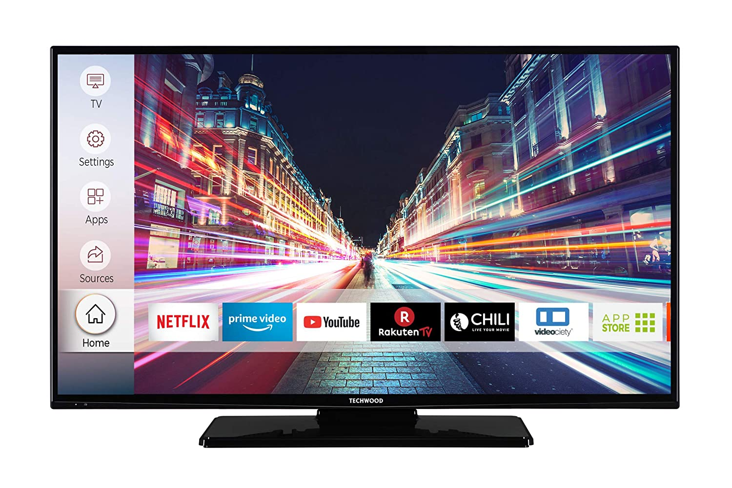 Techwood F40T52C 102 cm (40 Zoll) Fernseher (Full HD, Triple-Tuner, Smart TV, Prime Video)