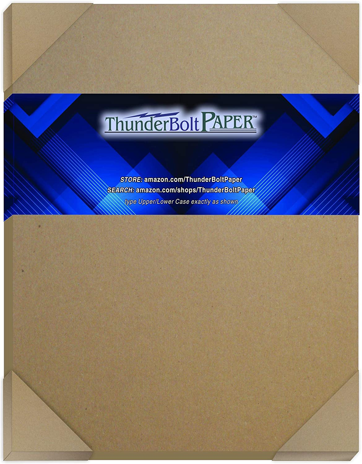 100 Sheets Chipboard 46Pt (Point) 8 X 10 Inches Heavy Weight Frame|Photo Size .046 Caliper Thick Cardboard Craft|Packing Brown Kraft Paper Board
