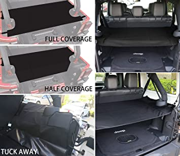 Amazon Com Enrand Black Jeep Wrangler Cargo Cover Water Repellent