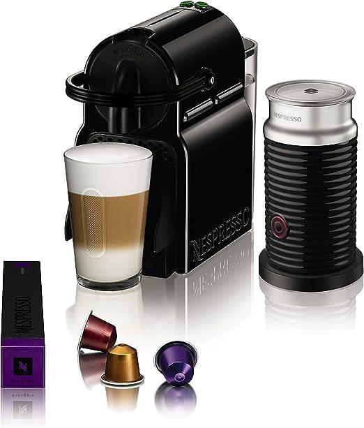 Máquina de cápsulas de café Krups Nespresso Inissia, color rojo rubí Inissia and Aeroccino negro: Amazon.es: Hogar