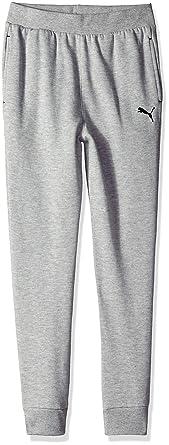 PUMA - Pantalones de chándal para niño - Gris - Small: Amazon.es ...