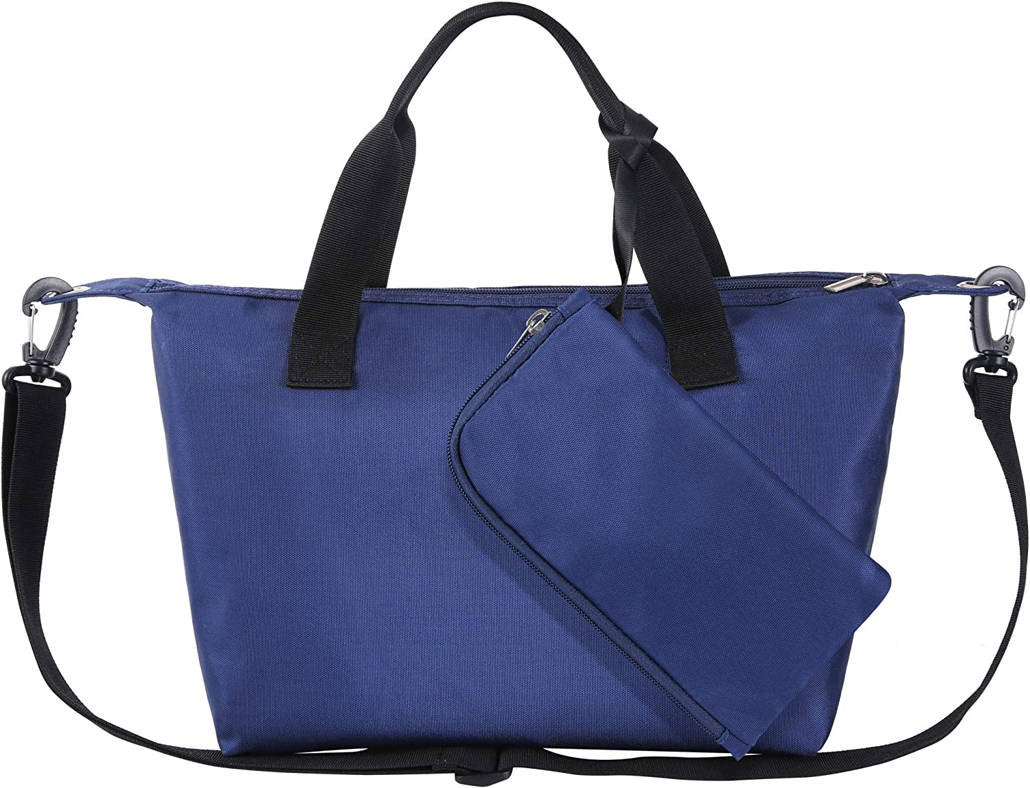 ORASANT Lunch Bag Lunch Tote, Waterproof and Leakproof Insulated Lunch Box for Women with Side Pockets and Detachable Shoulder Strap, Navy Blue