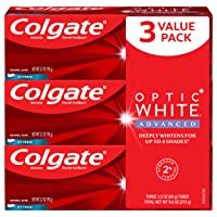 Colgate Optic White Advanced Teeth Whitening Toothpaste, 2% Hydrogen Peroxide, Icy...