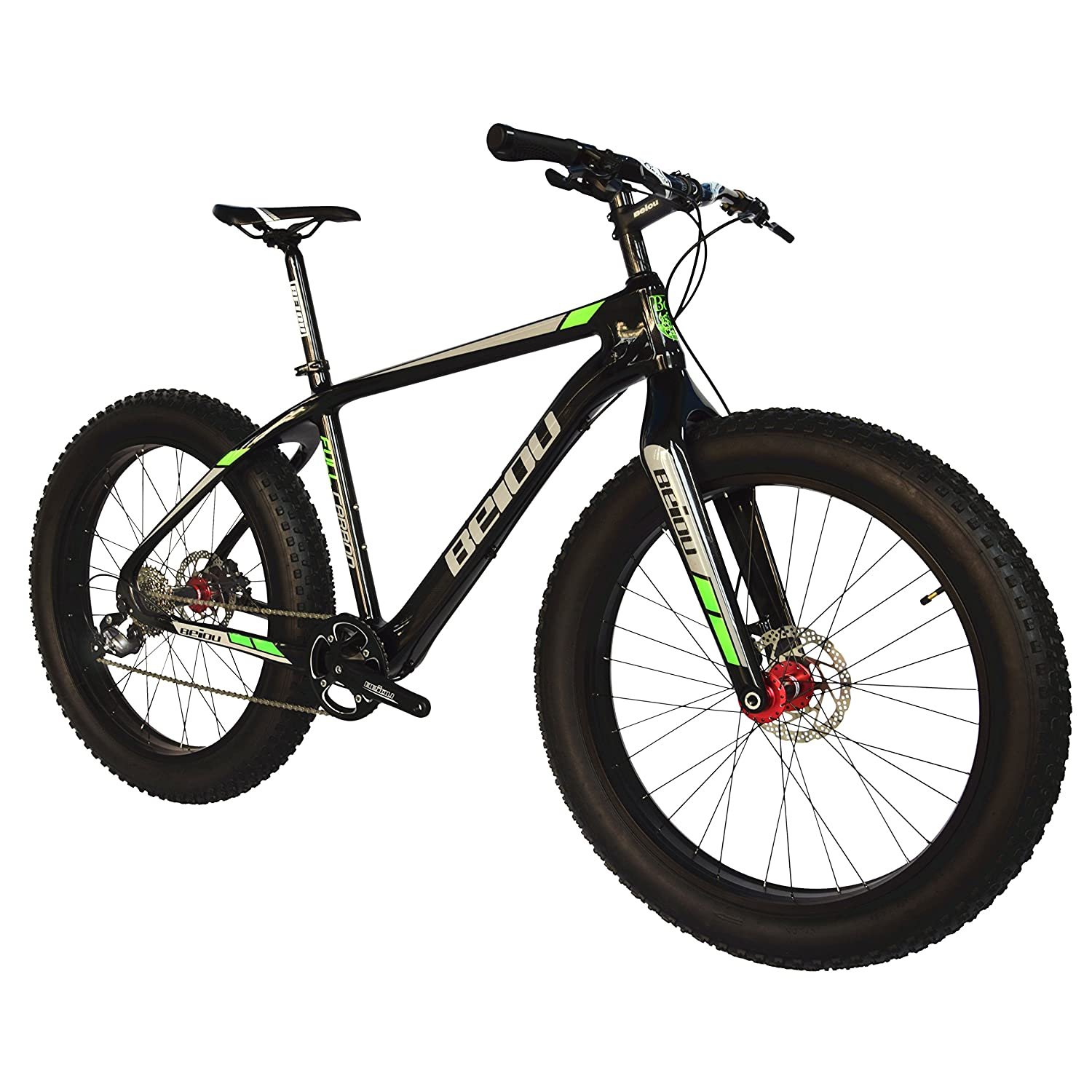 2017 Beiou Full Carbon Fat Tire Bicycle Fat Mountain