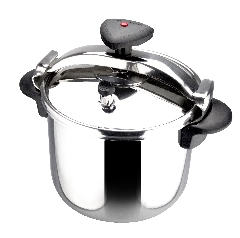 Magefesa 14 quart Star R Stainless Steel Pressure Cooker, Large, Silver