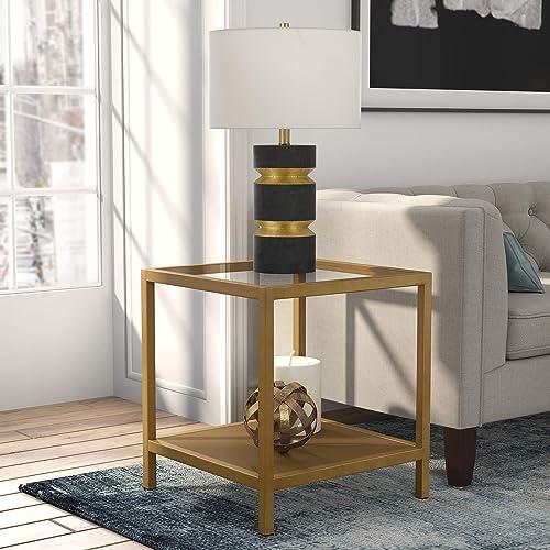 Henn Hart Side Brass end table, Gold