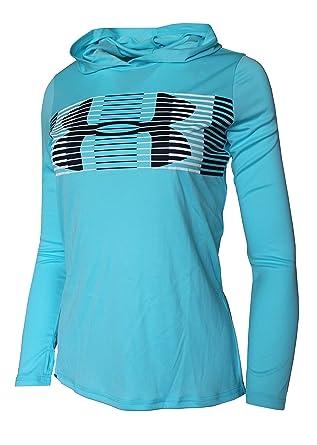 8acd2abd Amazon.com: Under Armour Big Girls 6-18 Athletic Light Hooded Shirt ...