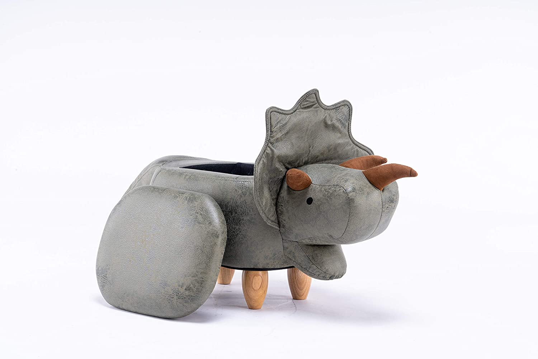 W09-00014 - Home4Kidz Dinosaur Childrens Size Animal Storage Ottoman Furniture for Bedroom