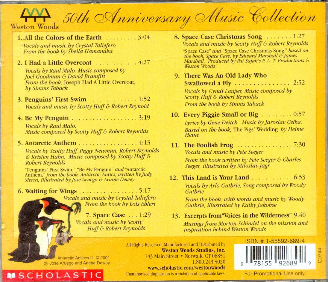 Weston Woods 50th anniversary music collection 1953-2003 by scholastic