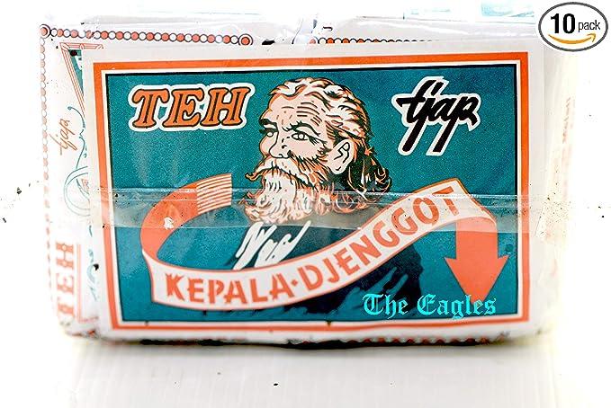 Kepala Djenggot Teh bungkus Biru - ジャスミンルースティー、40グラム(10パック)