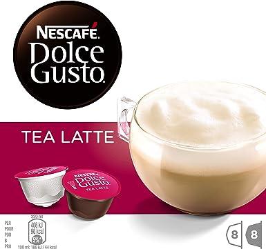 NESCAFÉ Dolce Gusto Tea Latte, Pack de 3 x 16 Cápsulas - Total: 48 ...