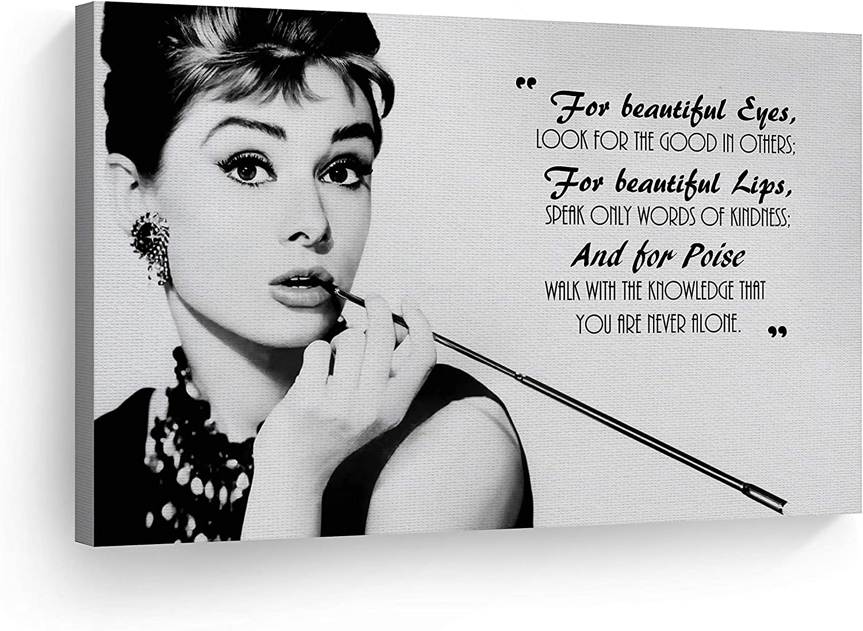 Art Print POSTER Canvas Hepburn Audrey