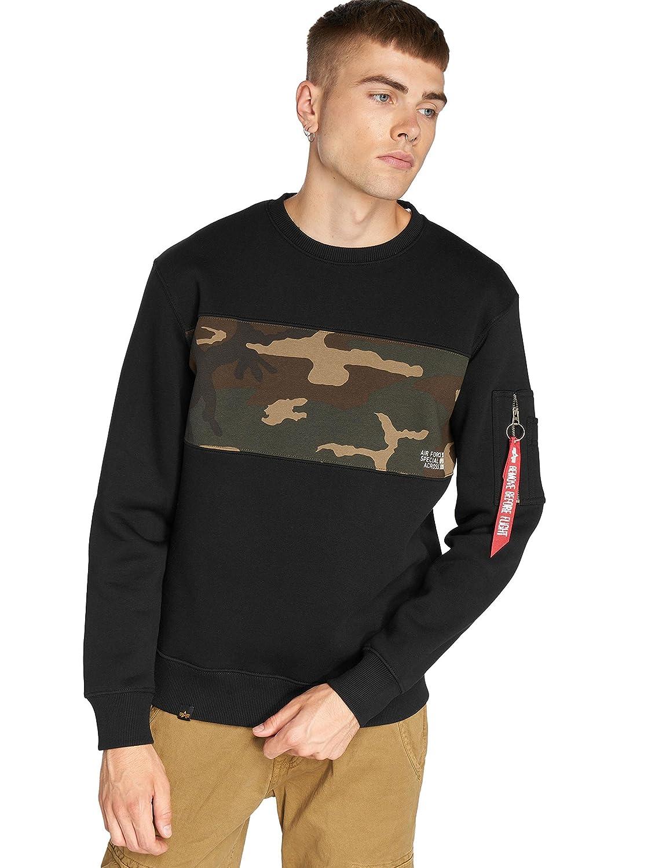 Alpha Industries Camo Bar Sweatshirt Schwarz Camouflage M