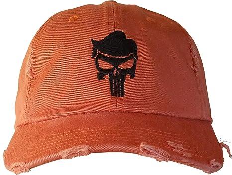 157ed49267cf3 Trump Skull Cap - Trump for Justice - QAnon Q Hat  (BurntOrangeRippedDistressed TrumpHairSkull)