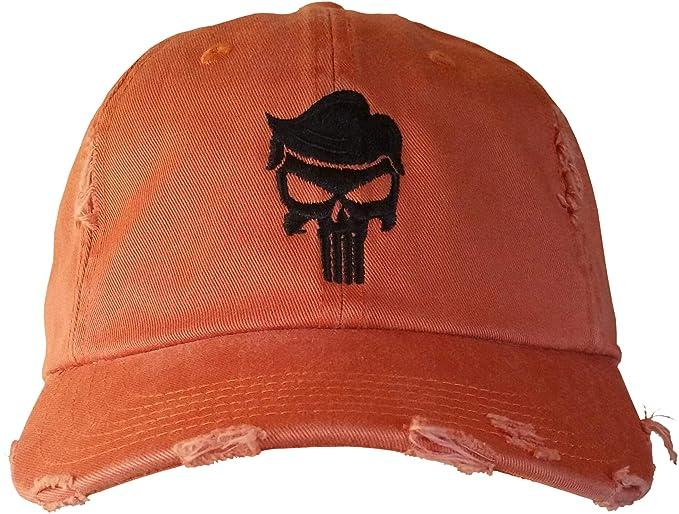 Trump Skull Cap - Trump for Justice - QAnon Q Hat  (BurntOrangeRippedDistressed TrumpHairSkull) e553a1711056