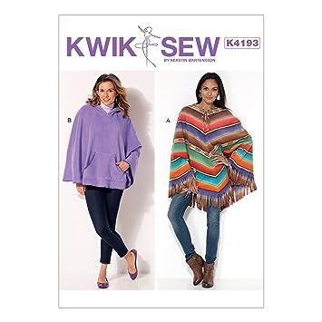 KWIK-SEW PATTERNS Kwik Sew Mustern Schnittmuster Poncho, XS – Large ...