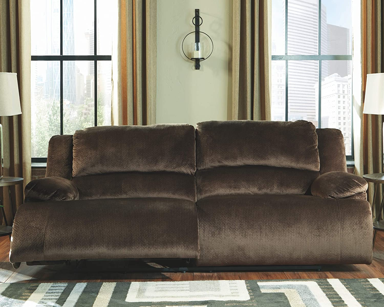 Signature Design by Ashley Clonmel 2-Seat Reclining Sofa Chocolate