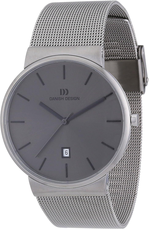 Danish Design 3314411 - Reloj analógico de Cuarzo para Hombre, Correa de Acero Inoxidable Color Gris