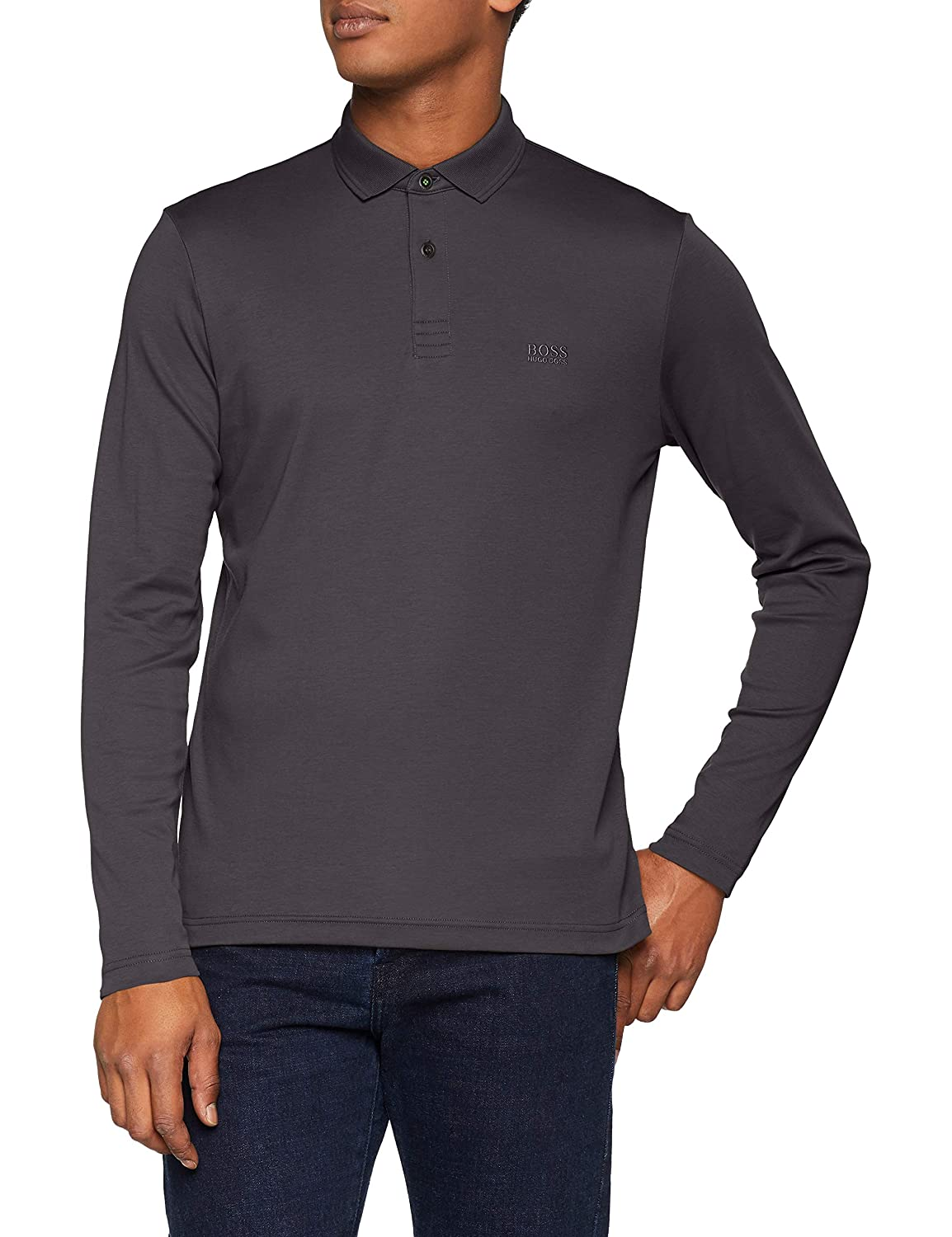 gris (gris 020) S BOSS Pirol Polo Homme