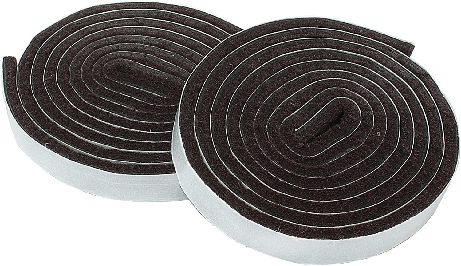 Smart Surface 8873 Heavy Duty 1/2-Inch by 60-Inch Self Adhesive Furniture Felt Strips Brown 2-Piece Value Pack