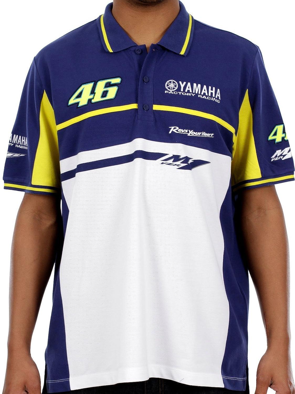 Valentino Rossi Yamaha Blue White Factory Racing Polo Shirt