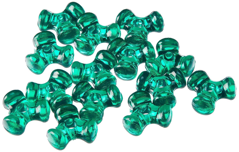 Darice 06102-7-T12 Bead Tri Christmas 11MM 1000PK, Green Tri-Beads