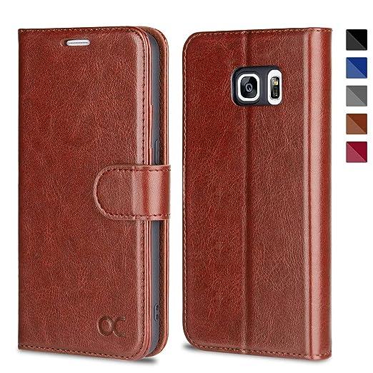 OCASE Samsung Galaxy S7 Hülle Handyhülle Samsung Galaxy S7 [Premium Leder] [Standfunktion] [Kartenfach] [Magnetverschluss] Le