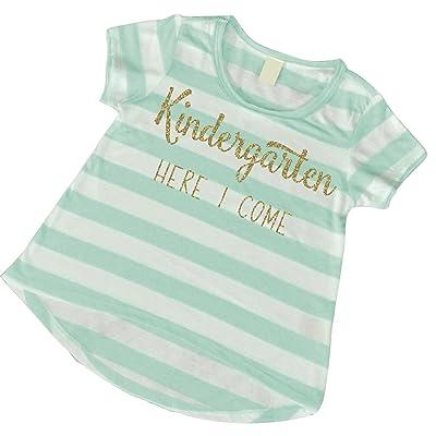 1st Day of Kindergarten Shirt, Girls Kindergarten T-shirt (5T)