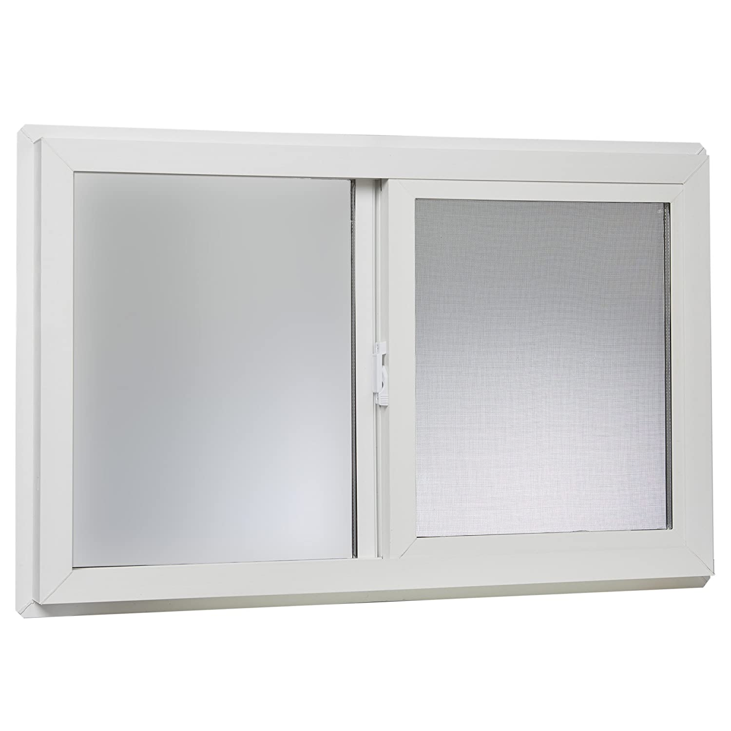 "Park Ridge VBSI3220PR Vinyl Basement Slider Window, 32"" x 20"", White"