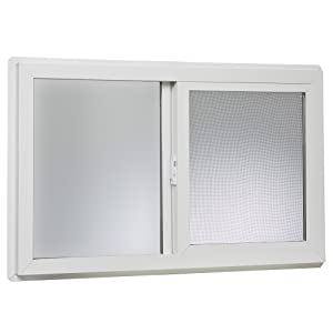 "Park Ridge VBSI3220PR Vinyl Basement Slider Window, 32"" x 20"", White"
