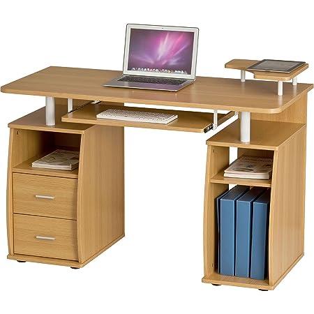 Piranha Trading Escritorio Mesa de Ordenador Despacho con Estantes ...