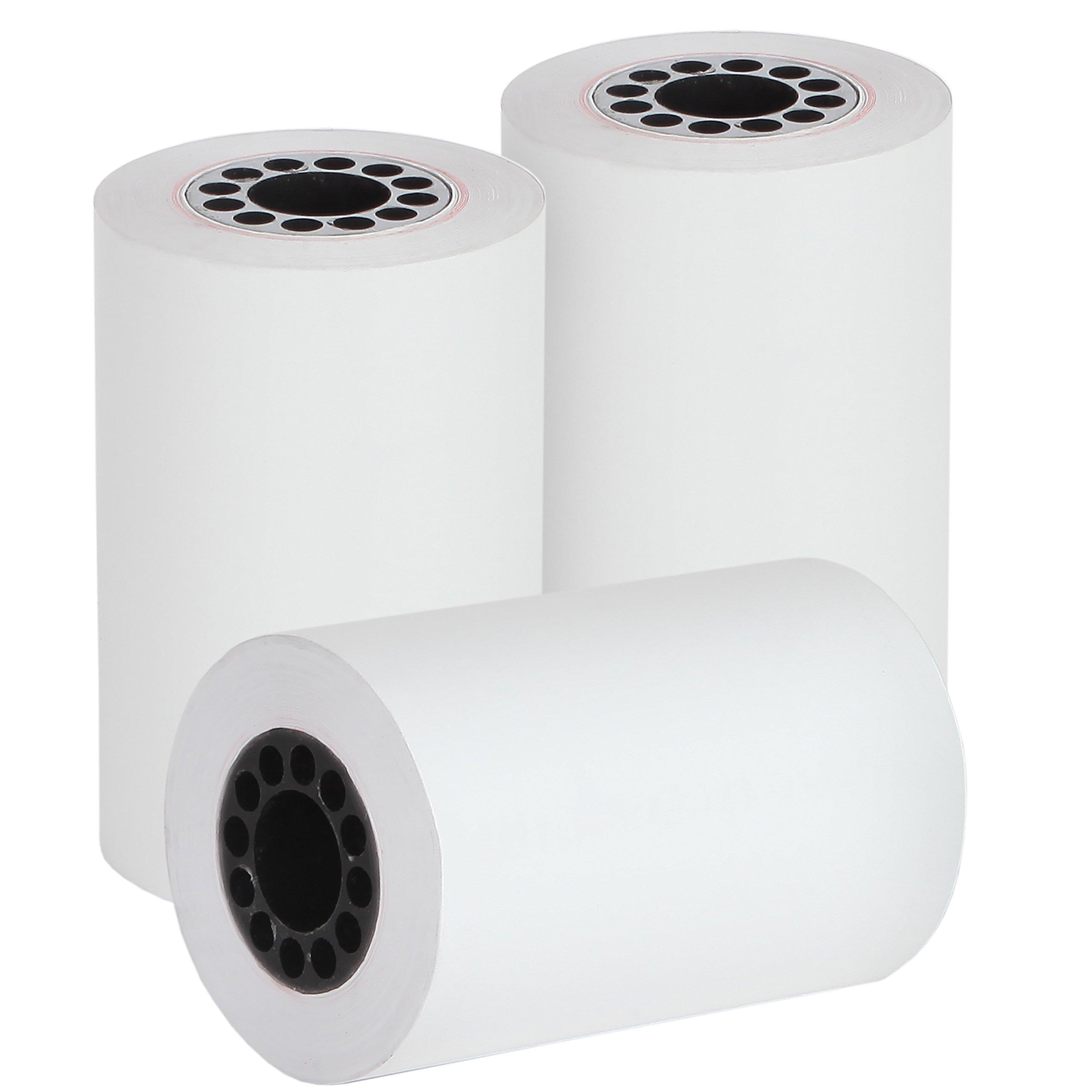 Freccia Rossa Market, (50 Rolls) 2 1/4'' X 50' Thermal Receipt Printer Paper for Verifone VX520, First Data FD400, Nurit 8000 by Freccia Rossa Market