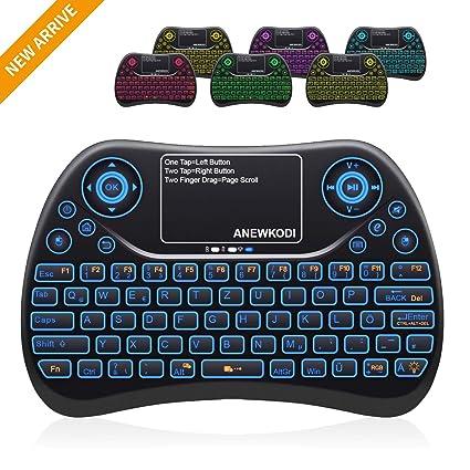 ANEWKODI Mini Tastatur Deutsch 2.4GHz Wireless 4 in 1 Keyboard Touchpad Mouse Combo/ 10 Meter Reichweite geeignet für Smart-T