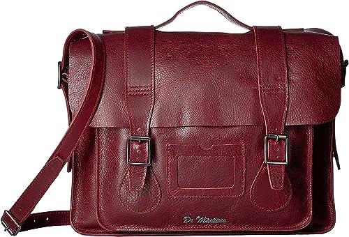 9d1a28a99f Dr. Martens Unisex 15'' Leather Naturesse Satchel, Wine, OS: Amazon ...