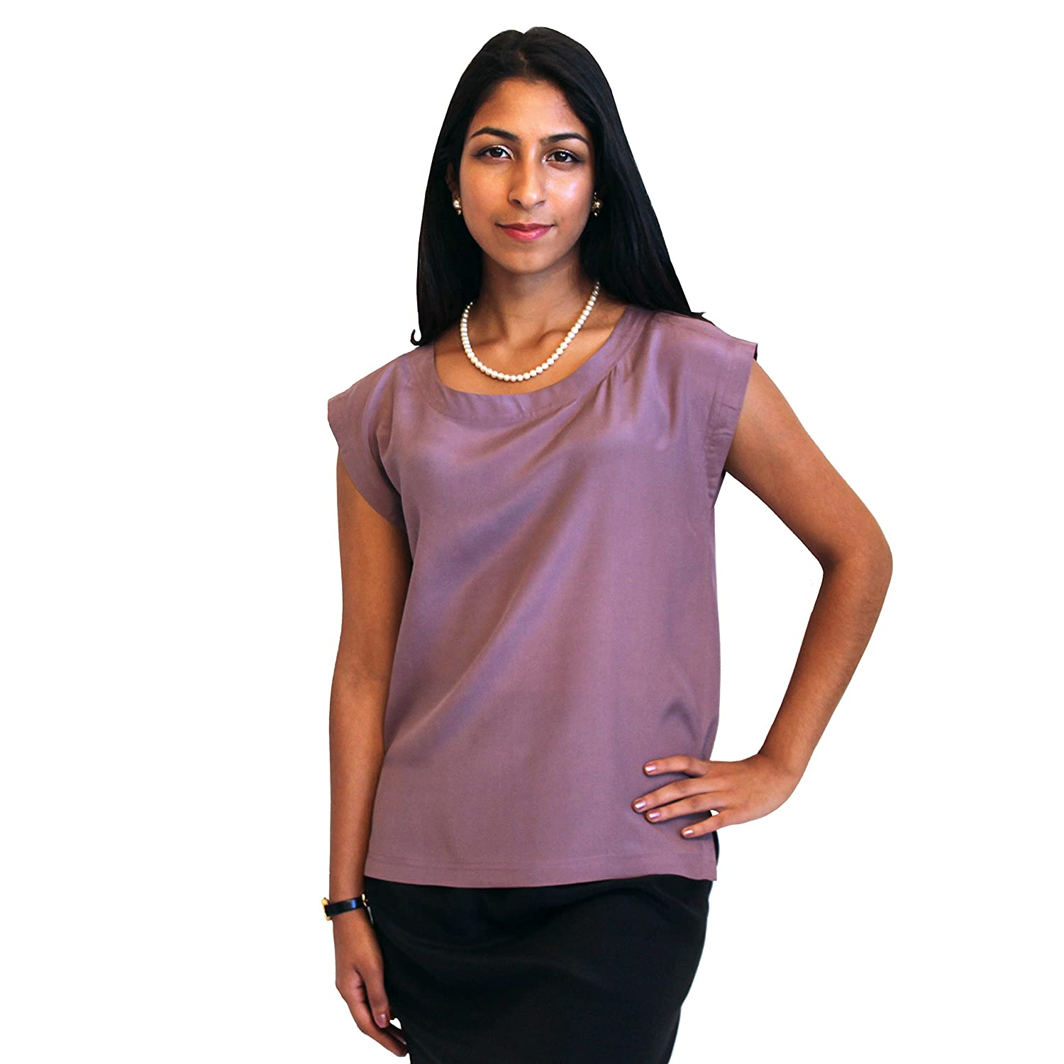 Classic Silk Shell for Women by ROYAL SILK - 100% Silk Crepe de ...