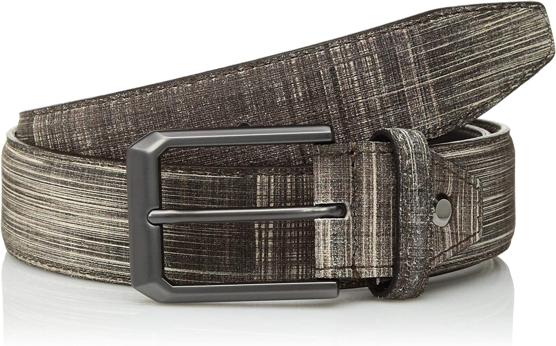 Bugatchi Mens Stylish Printed Suede Belt