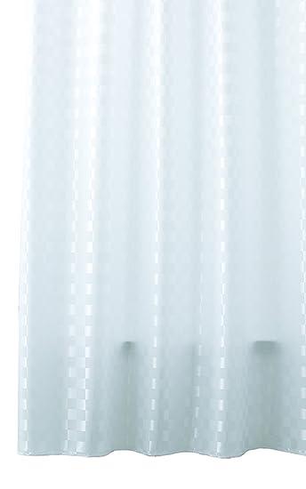 Duschvorhang Textil duschvorhang textil waschbar mit ringen quadretto weiß blickdicht