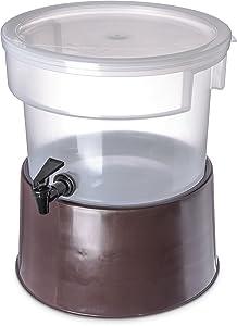 Carlisle 222701 Polypropylene Round Beverage Dispenser with Base, 3 gal. Capacity, 12-3/8