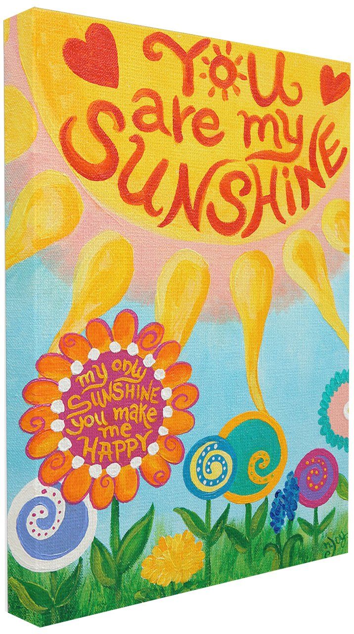 The Kids Room by Stupell You Are My Sunshine Rectangle Wall Plaque, 11 x 0.5 x 15, Proudly Made in USA BRP-1264