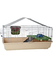 AmazonBasics Small Animal Cage Habitat With Accessories - 42 x 24 x 20 Inches, Large