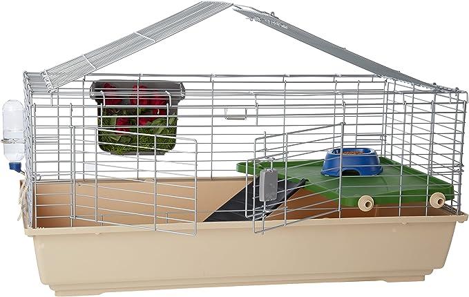 AmazonBasics – Jaula hábitat para animales pequeños con accesorios, 105 x 62 x 50 cm, Grande
