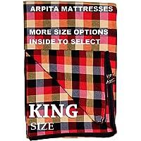 Cotton Mattress Covers King Size (6X6, 6X6.25, 6X6.5, 6X7 ft),(72X72, 72X75, 72X78, 72X84 INCH Options Inside