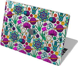 Lex Altern Hard Case Compatible with MacBook Air 13 2020 Mac 16 2019 Pro 15 inch Retina 2018 2017 12 11 Buddhism Alien Cover Mandala Laptop Hamsa Space Touch Bar Clear Shell Boho Cute mch392