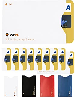 Amazon.com : Owfeel RFID Blocking Secure Credit Card Sleeves ...